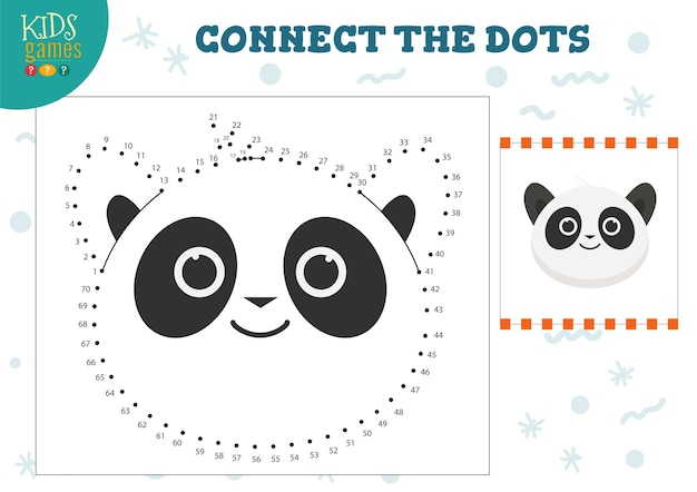 Connect the dots kids game illustration