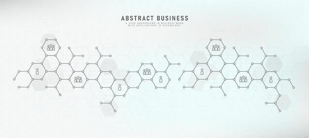 Свяжите людей в концепции коммуникации с бизнес-функциями. социальные сети векторные иллюстрации