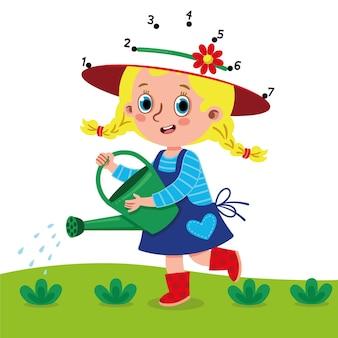 Подключите маленькие шляпы садовников векторные иллюстрации для детей