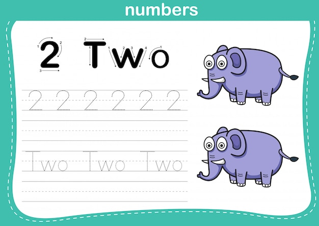 Connecting dot and printable numbers exercise
