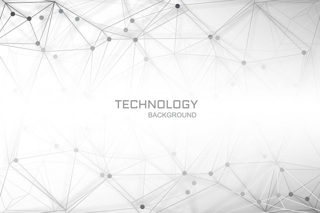 Connecting lines polygon digital technology background