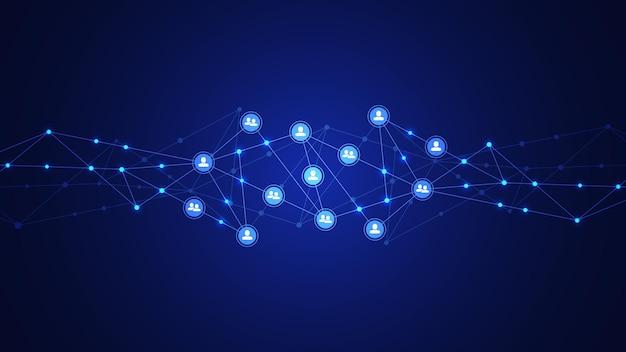 人とコミュニケーションのコンセプト、ソーシャルネットワークをつなぐ。