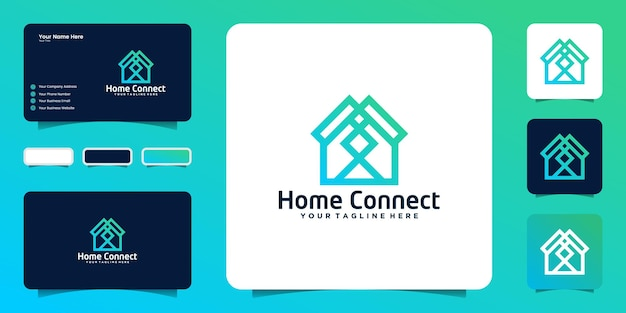 Connection house logo design inspiration and business card inspiration