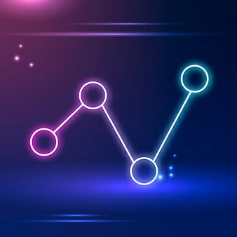 Icona di connessione in tono viola