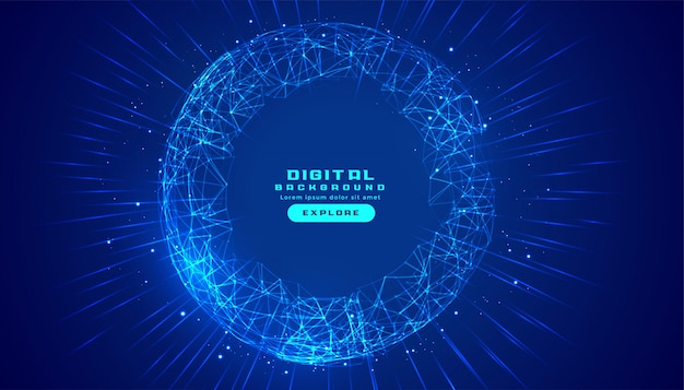 Соединения цифровой технологии фон с линиями сетки