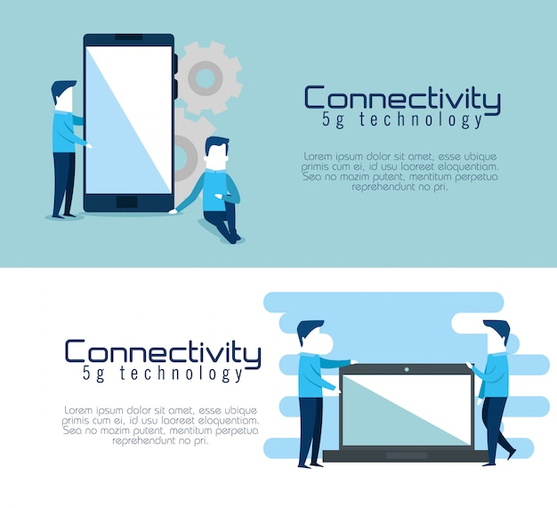 Connectivity 5g technology banners