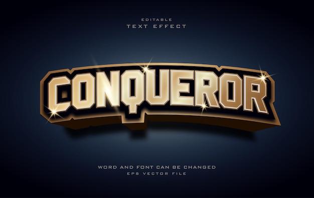 Conqueror shiny golden text effect style