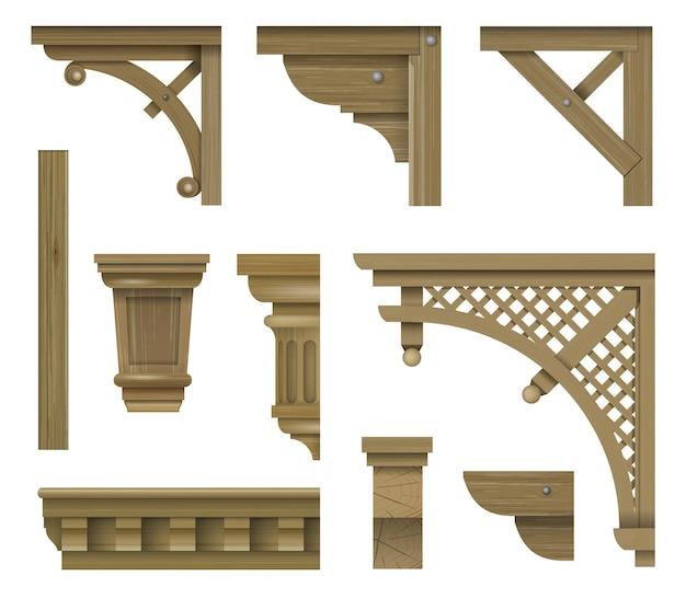 Console bracket old wooden veranda elements