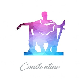 Абстрактный памятник логотип для константина сделаны из треугольников
