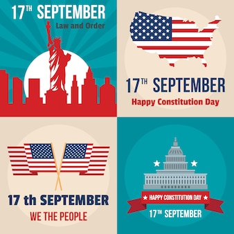 Constitution day usa president patriotic america flag banner