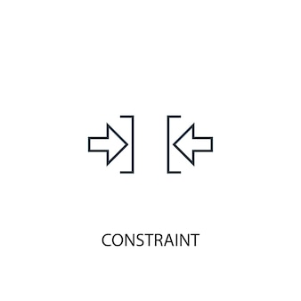 Constraint concept line icon. simple element illustration. constraint concept outline symbol design. can be used for web and mobile ui/ux