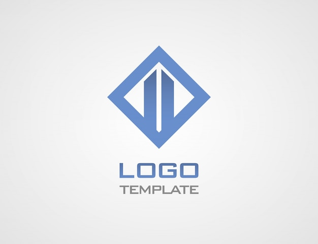 Construct luxury concept abstract logo template