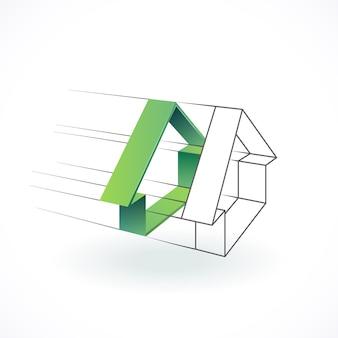 Строительство и архитектура логотип, концепция дизайна недвижимости.
