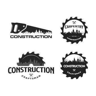 建設と大工仕事のロゴ
