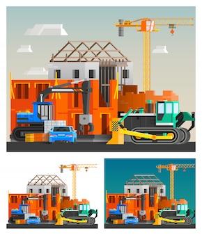 Набор строительных и машинных композиций