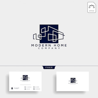 Construction architect logo design icon vector element