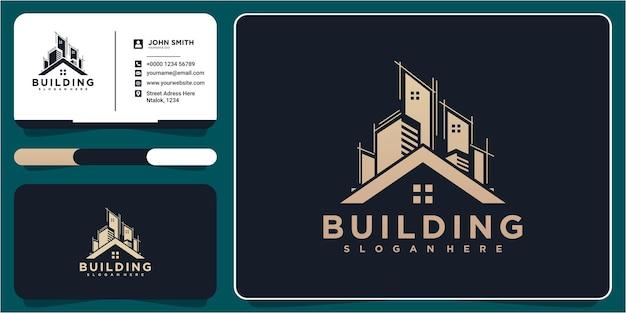 Construction architecture building logo design template element. real estate building logo design
