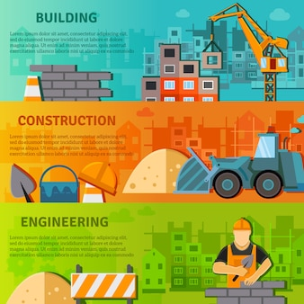 Insieme piano dell'insegna della costruzione