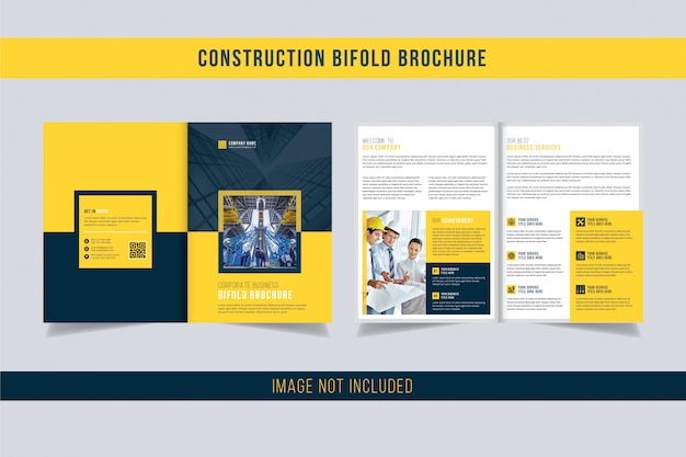 Construction bi-fold brochure