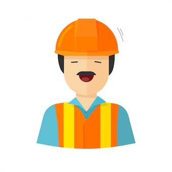 Construction builder character or worker