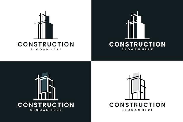 Строительство, строительство, вдохновение для дизайна логотипа