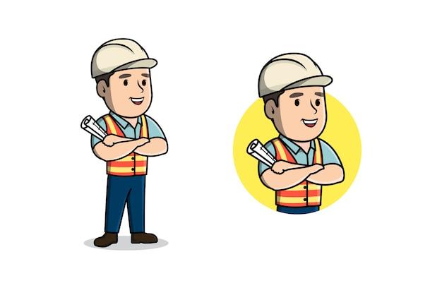 Construction character for mascot logo