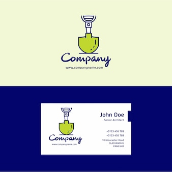 Construction company logo and business card template