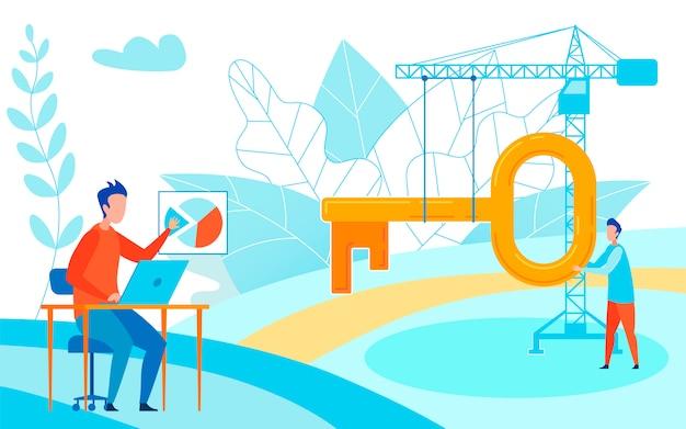 Construction company stats vector illustration