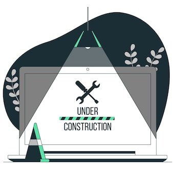 Under construction concept illustration