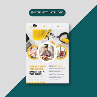 Construction corporate flyer