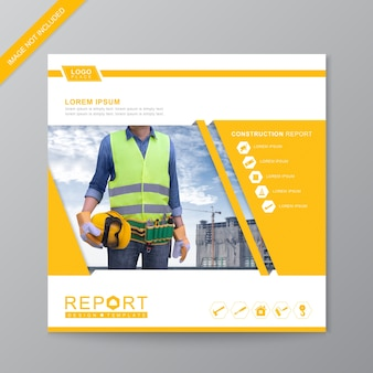 Construction cover brochure template