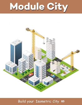 Construction crane heavy