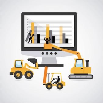 Construction design over gray background vector illustration