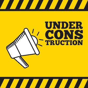 Under construction design, vector illustration eps10 graphic