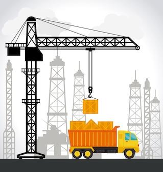 Construction design, vector illustration.