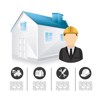 Construction design over white background vector illustration