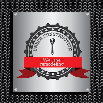 Under construction emblem