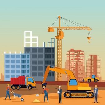 Construction engineer cartoon