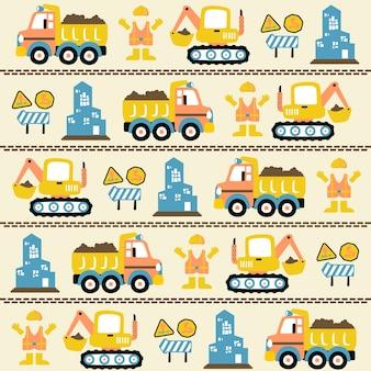 Construction equipment cartoon