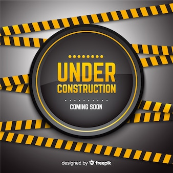 Under construction flat background