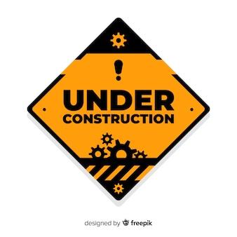 Under construction flat background