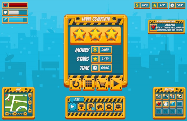 Construction game gui