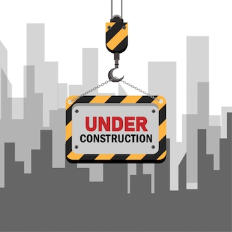Under construction graphic for website