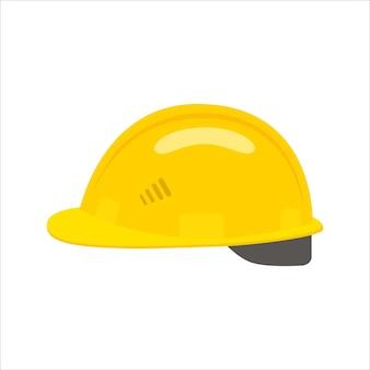 Строительный шлем значок.