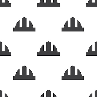 Construction helmet, vector seamless pattern, editable can be used for web page backgrounds, pattern fills