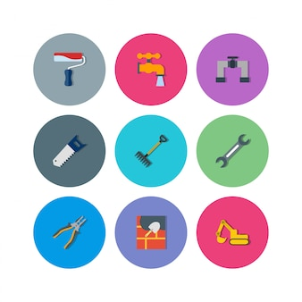 Construction icons for personal and commercial use