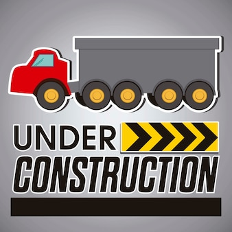 Construction icons red truck