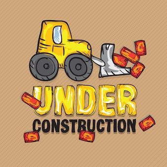Construction icons trucks (строящийся экскаватор-погрузчик)