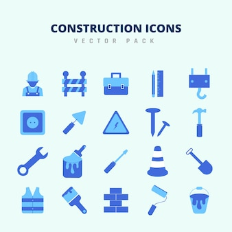 Construction icons vector pack
