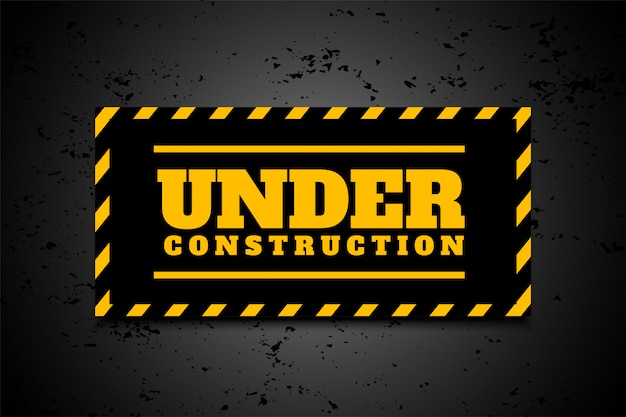 Under construction industrial background in yellow black stripes